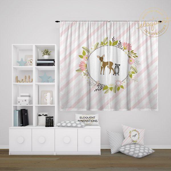 #431_Woodland Animal Curtains
