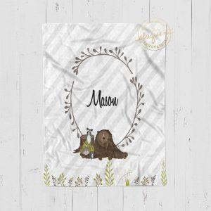 #432_Mountain Animal Blanket