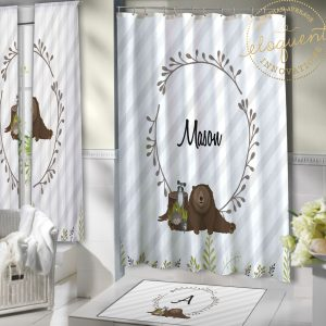 #432_Forest Animal Shower Curtains