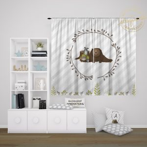 #432_Forest Animal Window Curtains
