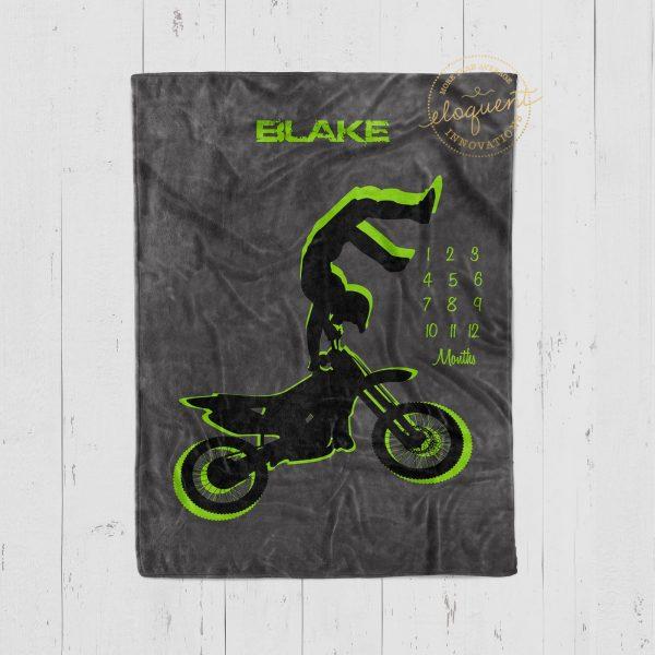 #54_Motocross Milestone Blanket