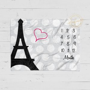 #79_Paris Eiffel Tower_Milestone Blanket