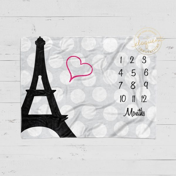 #79_Paris Eiffel Tower_Milestone Blanket