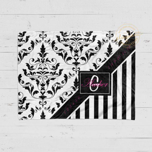 #88_Damask-Striped Milestone Blanket