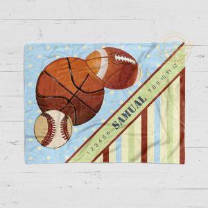 #102_Sports Milestone Blanket