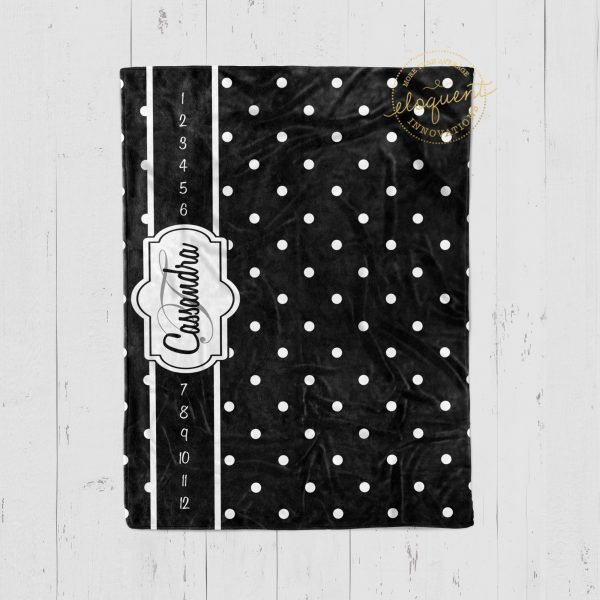 #112_Polka Dots Milestone Blanket