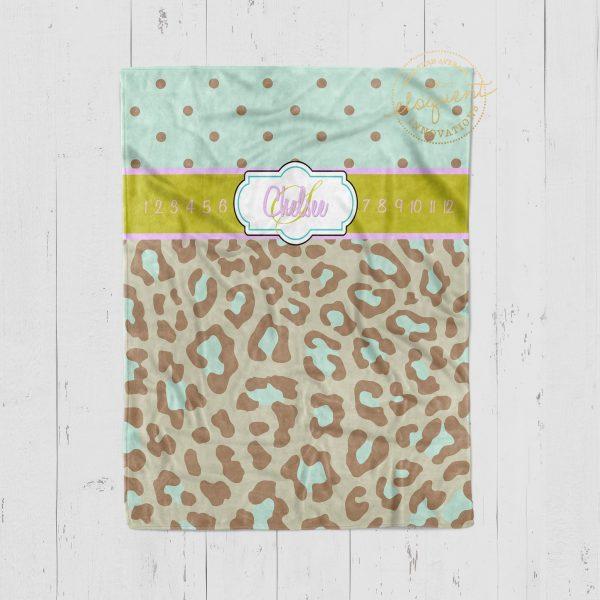 #114_Cheetah Milestone Blanket