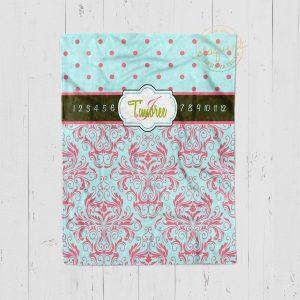#118 Damask Pattern Milestone Blanket