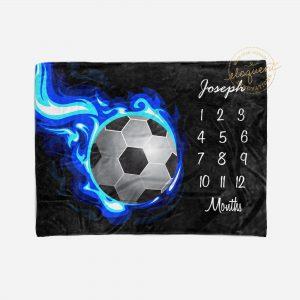 #252_Soccer Milestone Blanket