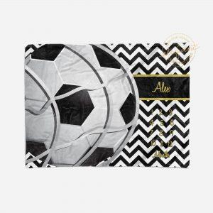 #260_Soccer-Chevron Milestone Blanket