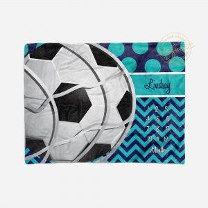 #373_Soccer Ball Milestone Blanket