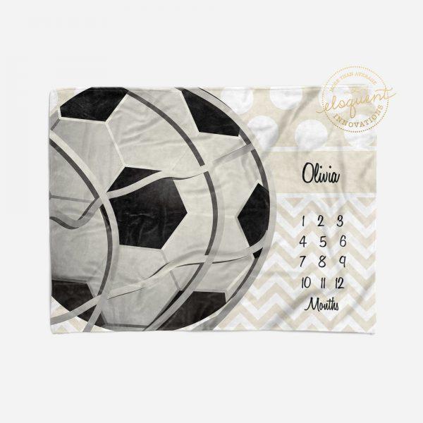 #375_Soccer Milestone Blanket