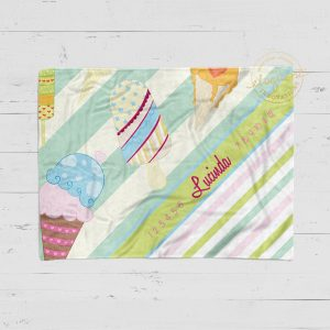 #90_Ice Cream Theme Milestone Blanket
