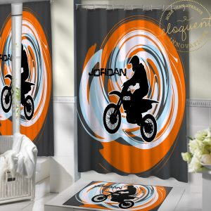 Dirt Bike Bathroom Curtains