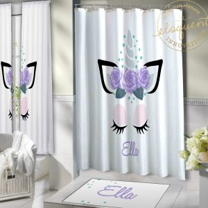 Unicorn Bathroom Curtains