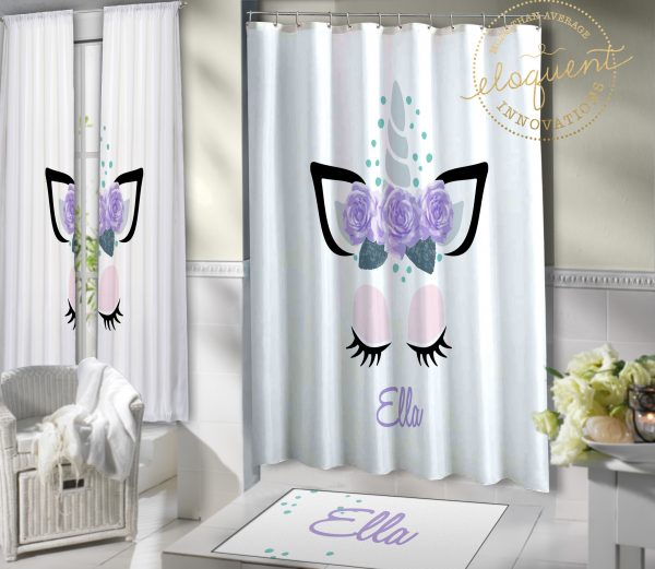 Unicorn Bathroom Curtains