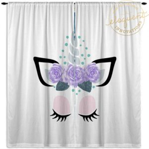 #409_Unicorn_Window Curtains