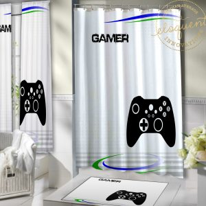 #410_Gamer_Shower Curtains