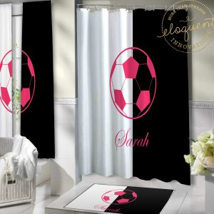 #418_Soccer Shower Curtain