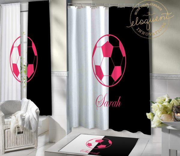 #418_Soccer Shower Curtain