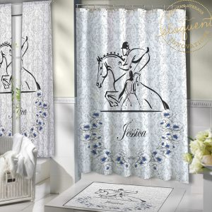 #369_Horse Shower Curtain