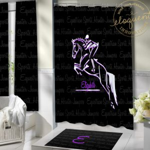 #371_Horse Shower Curtains