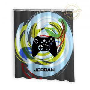 #396_Gamer Shower Curtains