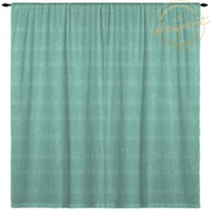 Custom Dressage Window Curtain