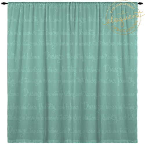 Custom Dressage Window Curtain